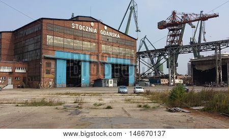 Gdansk, Poland - September 10, 2016: Gdansk Shipyard.