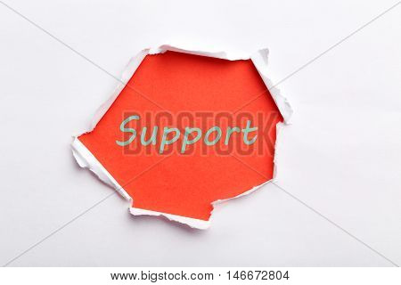 The Torn white paper for text, support
