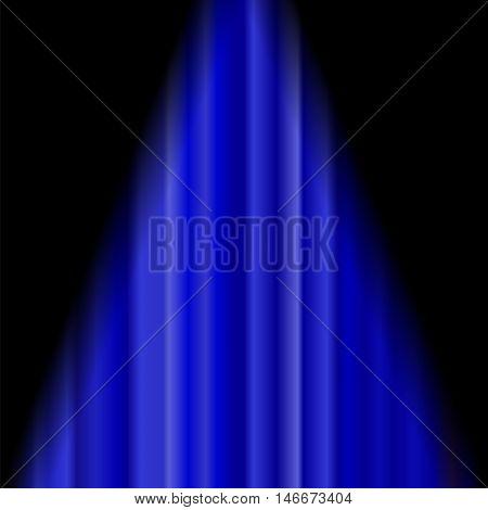 Cinema Closed Blue Curtain. Blue Textile Pattern. Cinema Stage.