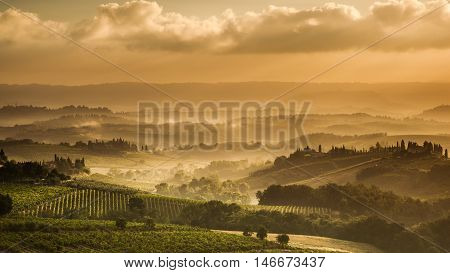 Tuscany In The Early Morning