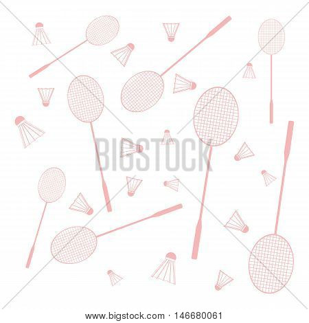 Nice Picture Of Colorful Badminton Rackets And Shuttlecocks