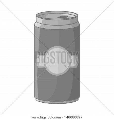 Aluminum cans for beer icon in black monochrome style isolated on white background. Alcoholic beverages symbol vector illustration