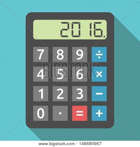 Calculator Showing 2016 Year