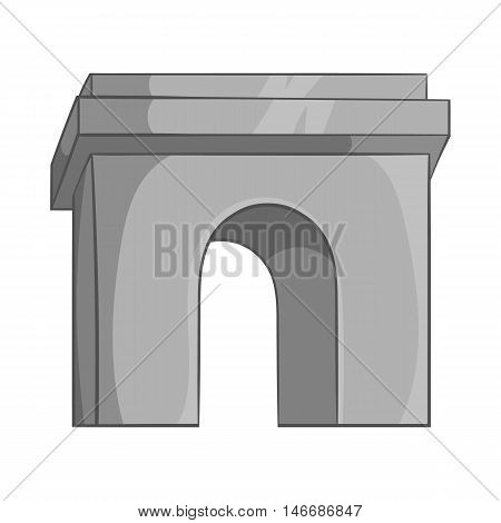 Arch icon in black monochrome style isolated on white background. Construction and interiors symbol vector illustration