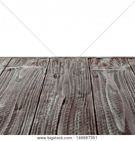 Wooden textured surface on white background