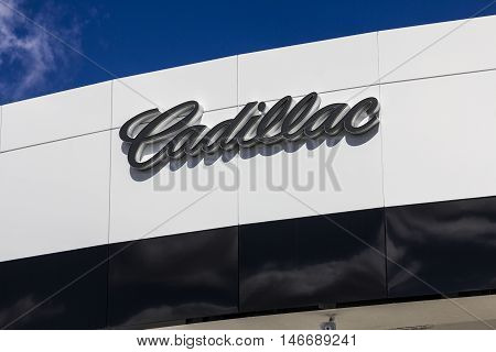 Indianapolis - Circa September 2016: Cadillac Automobile Dealership. Cadillac is the Luxury Division of General Motors I