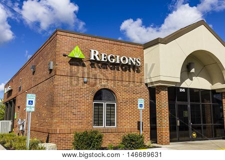 Indianapolis - Circa September 2016: Regions Financial Corporation. Regions is the only member of the Fortune 500 headquartered in Alabama I