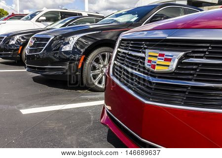 Indianapolis - Circa September 2016: Cadillac Automobile Dealership. Cadillac is the Luxury Division of General Motors IV