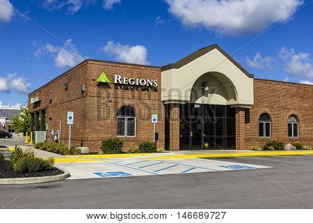 Indianapolis - Circa September 2016: Regions Financial Corporation. Regions is the only member of the Fortune 500 headquartered in Alabama III
