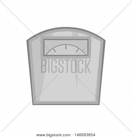Mechanical scales icon in black monochrome style isolated on white background. Device for weighing symbol vector illustration