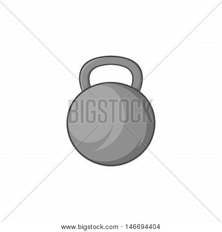 Sports weight icon in black monochrome style isolated on white background. Gym symbol vector illustration