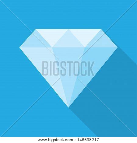 diamond isolated on blue background. vector illustration.