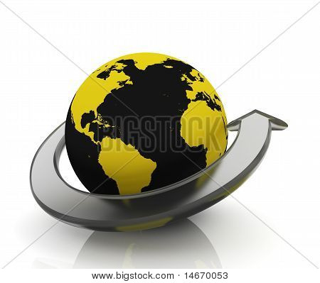 Earth With glass Arrow