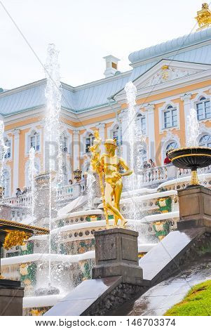 Russia, Saint-peterburg - June 24/2013: Peterhof Received Visitors After Restoration Of Many Exhibit