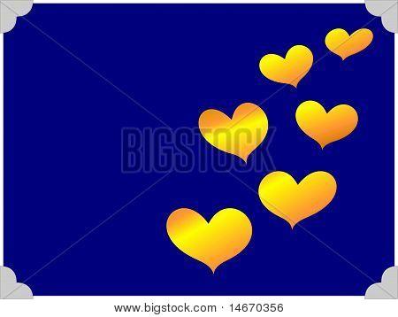 Golden Hearts Illustration