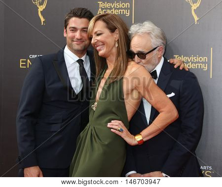 LOS ANGELES - SEP 10:  Philip Joncas, Allison Janney, Bradley Whitford at the 2016 Creative Arts Emmy Awards - Day 1 - Arrivals at the Microsoft Theater on September 10, 2016 in Los Angeles, CA