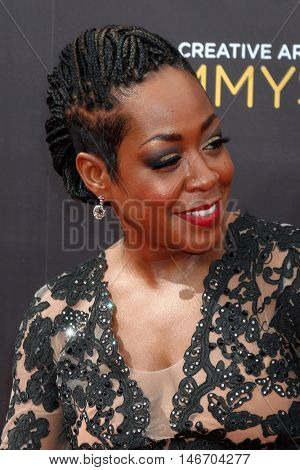 LOS ANGELES - SEP 10:  Tichina Arnold at the 2016 Creative Arts Emmy Awards - Day 1 - Arrivals at the Microsoft Theater on September 10, 2016 in Los Angeles, CA