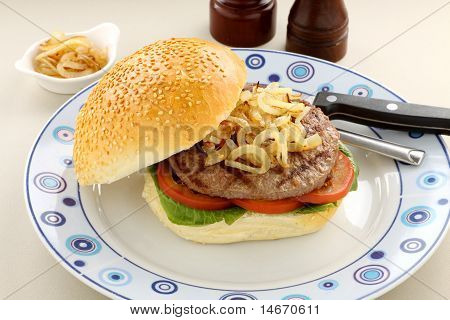 Hamburger And Onions