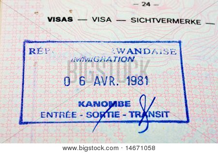 Old Passport Stamp