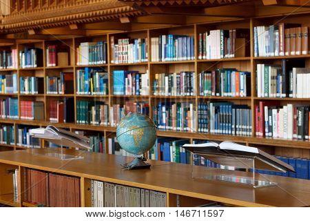 Belgium, Leuven - SEPTEMBER 05, 2014: Historical Library in Leuven. National treasure of Belgium since 1987.
