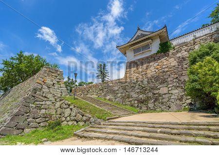 Entrance Gate Of Okayama Castle Or Crow Castle