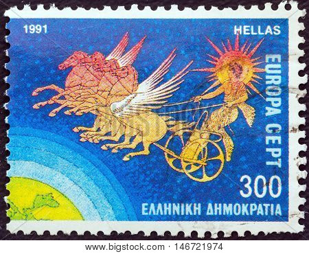 GREECE - CIRCA 1991: A stamp printed in Greece from the