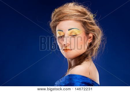 woman with glamour make-up