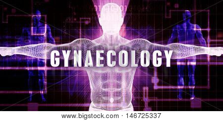 Gynaecology as a Digital Technology Medical Concept Art 3D Illustration Render