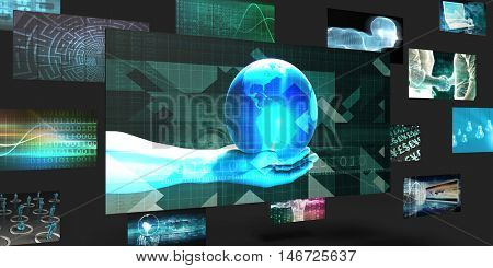 World Domination Sales and Marketing Abstract Concept 3D Render