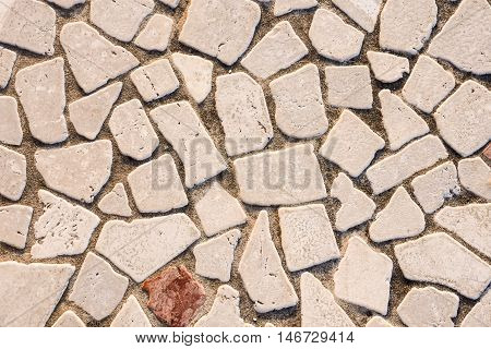 Texture Of The Stone Floor