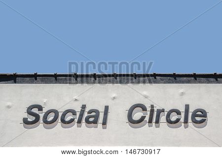 Social Circle sign on a building. Have fun with it!