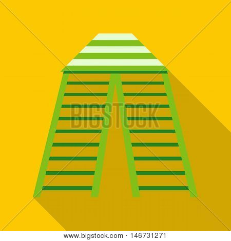 Circus tent icon in flat style isolated with long shadow vector illustration