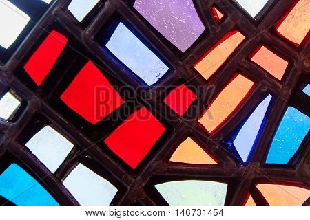 Image Of A Multicolored Stained Glass Window