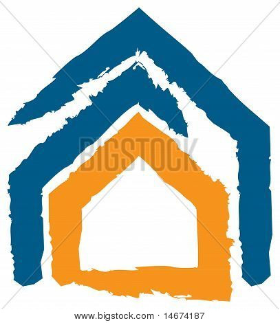 Abstract Design Expressing The Concept Of Insurance, Safety, Security. Icon Of A House