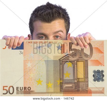 Business Man Appearing On Euro Note