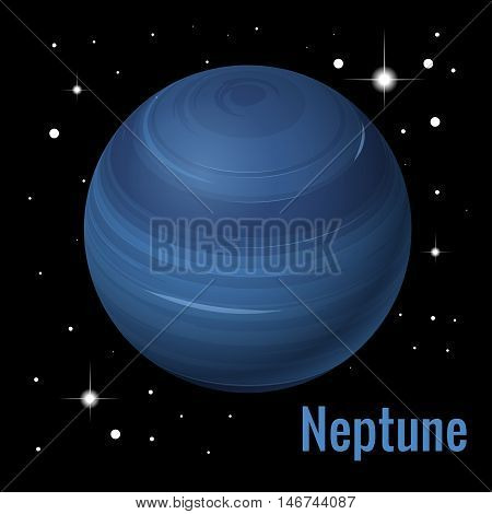 Neptune planet 3d vector illustration. High quality isometric solar system planets