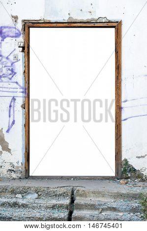 A blank doorway