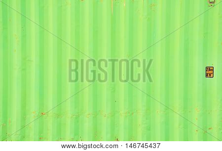 Green container texture with background for decorate