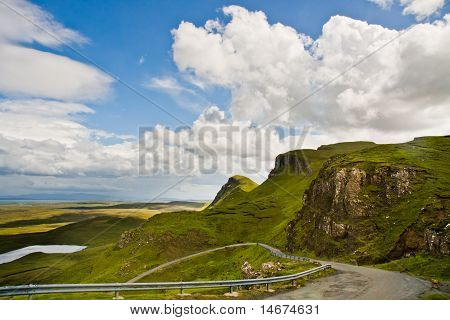 A Road To Quiraing, Isle Of Skye In Scotland