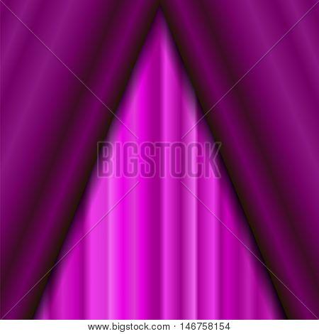 Cinema Closed Pink Curtain. Pink Textile Pattern. Cinema Stage.