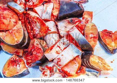 fresh fish with full protein and vitamin