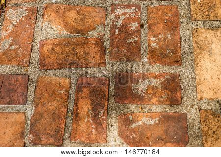 the red brick for the walk way