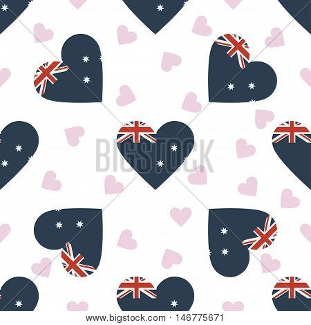 Heard And Mcdonald Islands Independence Day Seamless Pattern. Patriotic Background With Country Nati