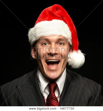 Businessman Santa