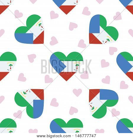 Equatorial Guinea Independence Day Seamless Pattern. Patriotic Background With Country National Flag