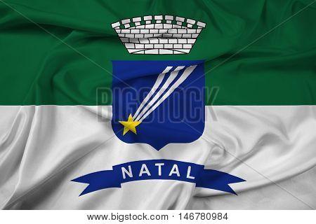 Waving Flag Of Natal, Rio Grande Do Norte, Brazil