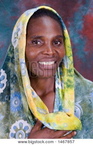 Afrikanische Frau Portrait