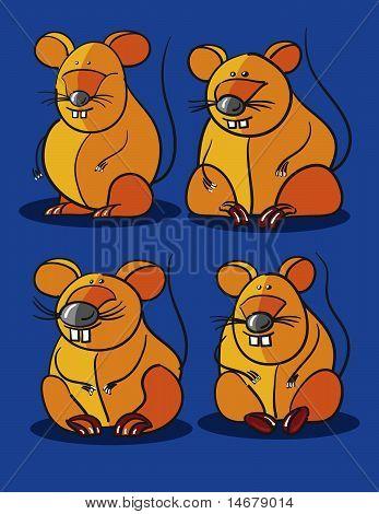 Mäuse-Cartoon