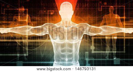 Electronic Medicine or E-Medicine Medicare for Technology 3D Render