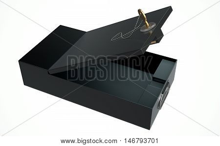Black Safe Deposit Box